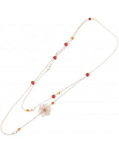 Collana in bronzo con perle