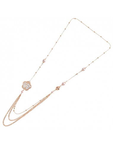 Collana in bronzo con perle fiore