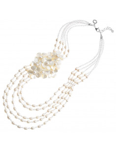 Collana con perle,madreperla e cristalli 500241C - orola.it