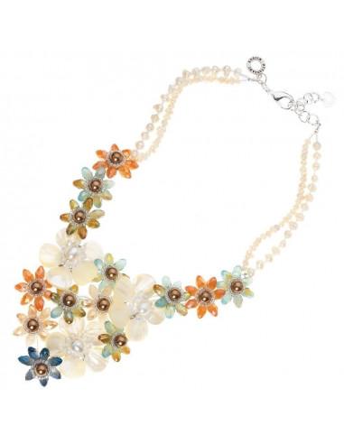 Collana Ottaviani con perle e madreperla