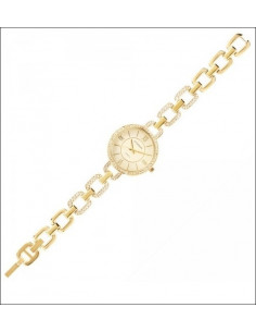 Orologio Ottaviani donna con cinturino braccialato catena con zirconi colore oro