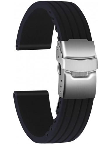 Cinturino con fibia Nero 22mm depn22mm - orola.it