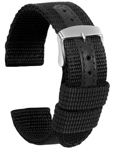 Cinturino Nylon Nero 22mm nyl22mm - orola.it