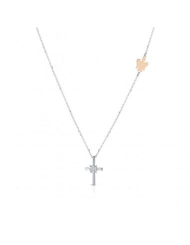 Angeli di Giannotti croce con diamanti LUX300 - orola.it