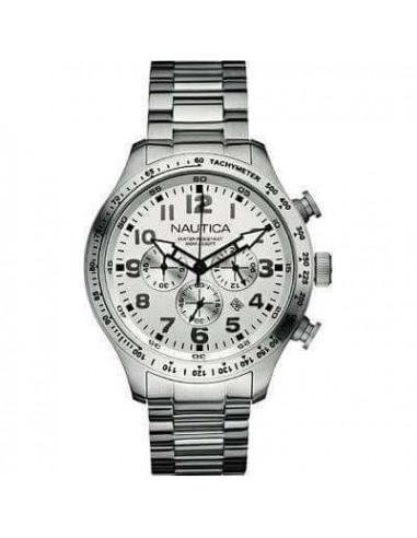 Nautica cronografo semplice bianco
