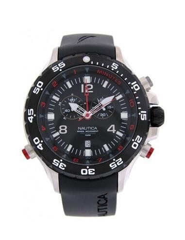Nautica cronografo elastomero nero